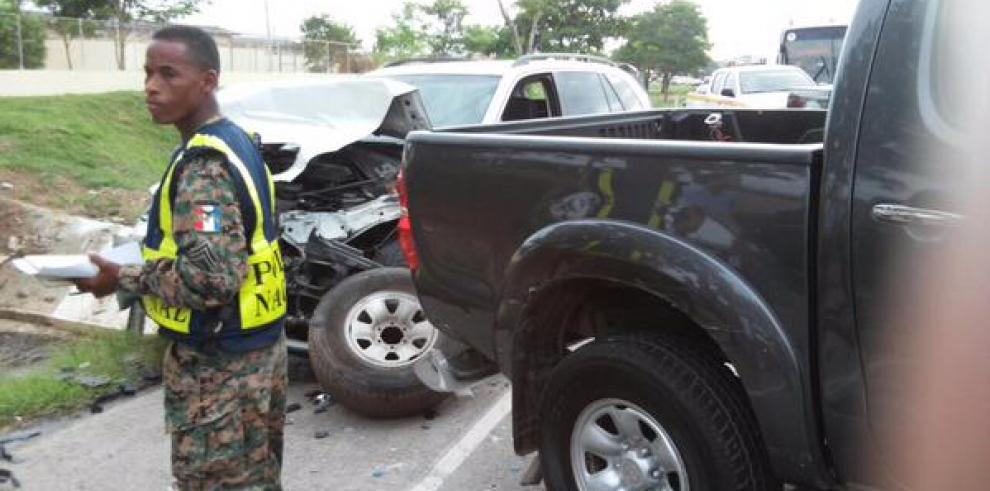 Colisión múltiple deja varios heridos en el Corredor Sur