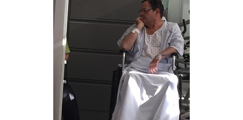 Filtran fotos de Luis Cucalón hospitalizado