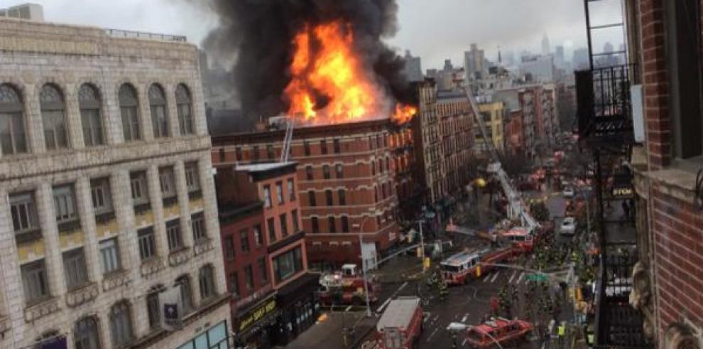 Explosión y derrumbe de un edificio en Manhattan