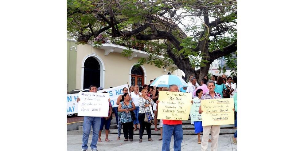 Protesta en el Patrimonio