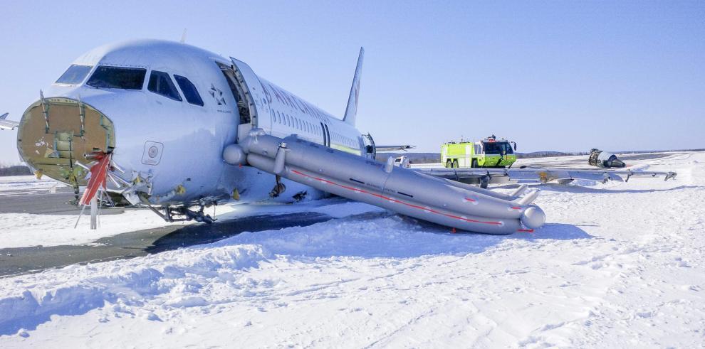23 heridos al salir de pista un avión A320 de Air Canadá en Halifax F