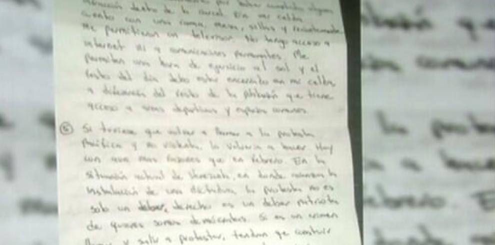 La carta del dirigente venezolano Leopoldo López desde la cárcel