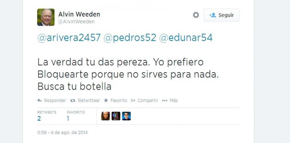 Polémica de Alvin Weeden en Twitter se convierte en tendencia