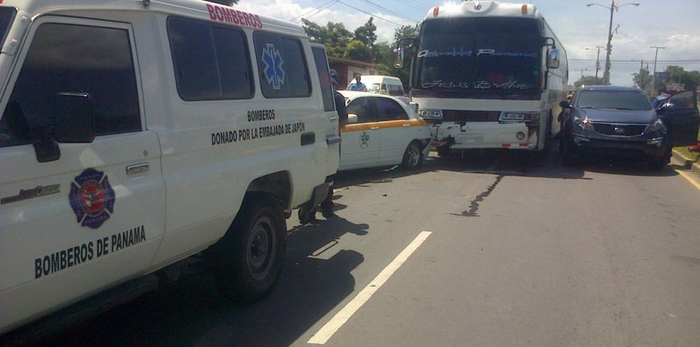 Dos accidentes de tránsito en la vía interamericana en Penonomé