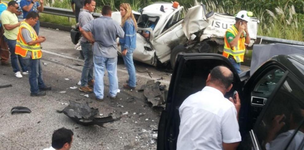 Un muerto en accidente en la Autopista Panamá- Colón
