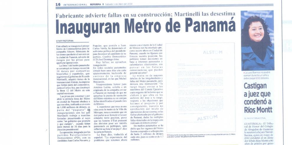 Desinformación sobre el Metro