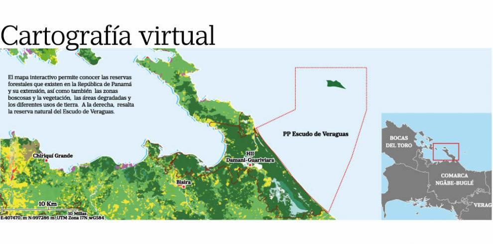 El primer mapa virtual de la cobertura boscosa de Panamá