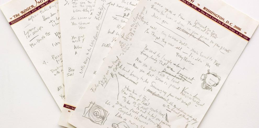 Venden por 2 millones la letra manuscrita del