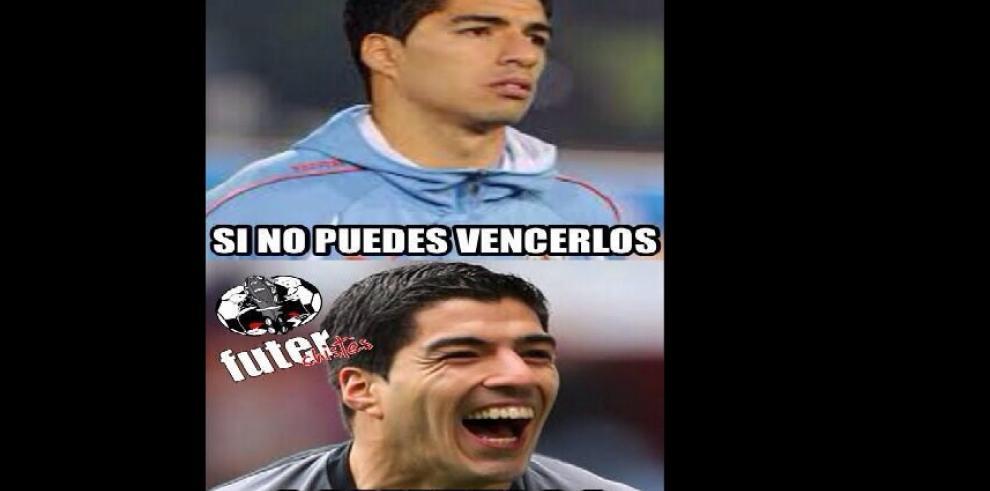 Los memes de la mordida de Suárez