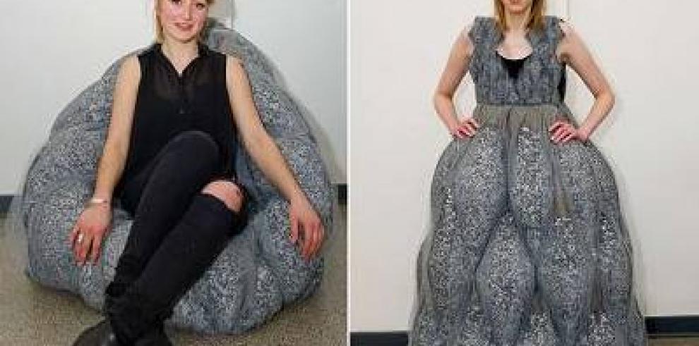 De vestido a sofá