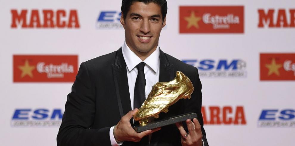 Luis Suárez gana Bota de Oro por sus 31 goles con Liverpool