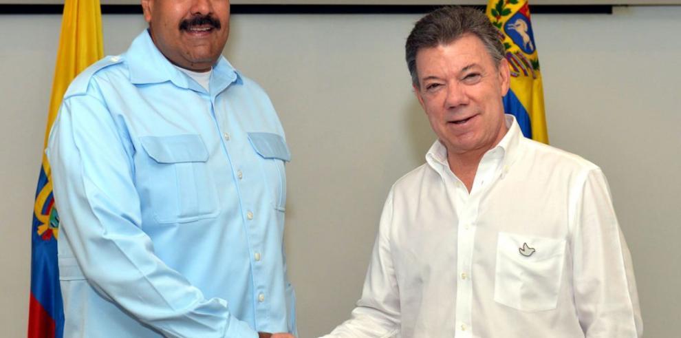Juan Manuel Santos y Nicolás Maduro se reúnen en Cartagena