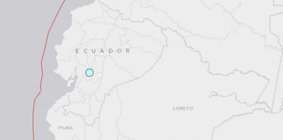 Sismo de magnitud 5.6 sacude provincia costera de Ecuador