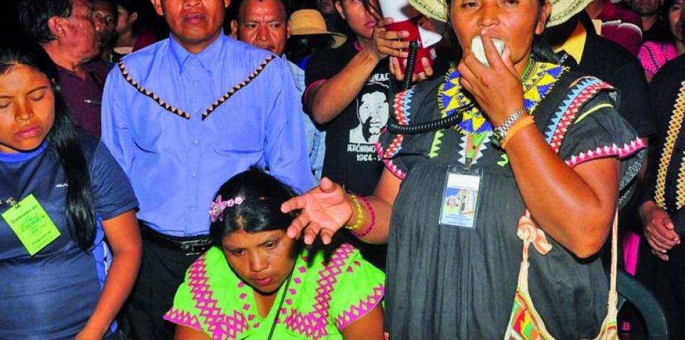 El pueblo Ngäbe defiende a su cacica