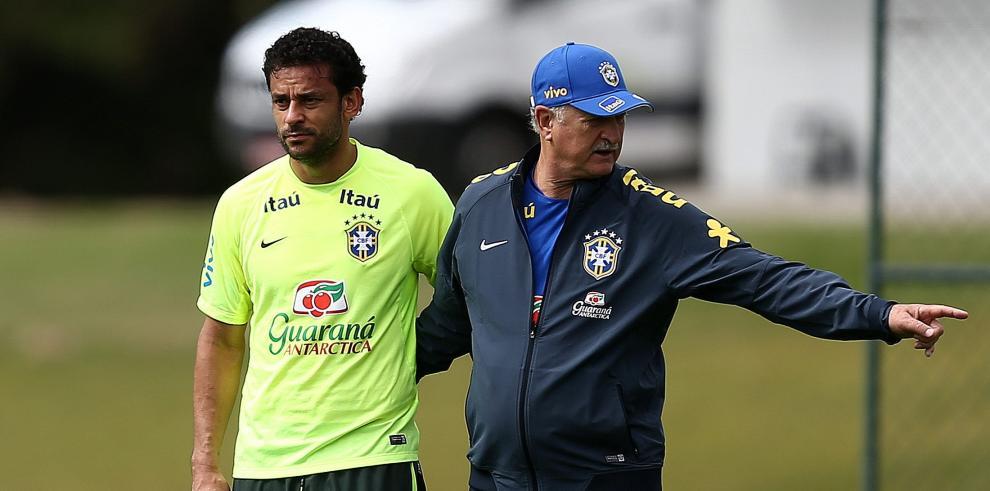 Scolari entrena con el once titular de la final de la Copa Confederaciones