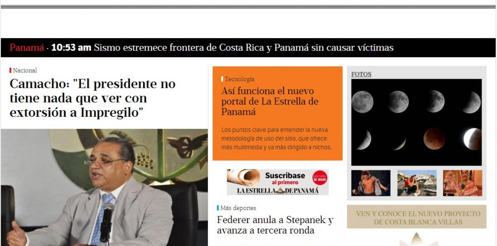 Así funciona el nuevo portal de La Estrella de Panamá