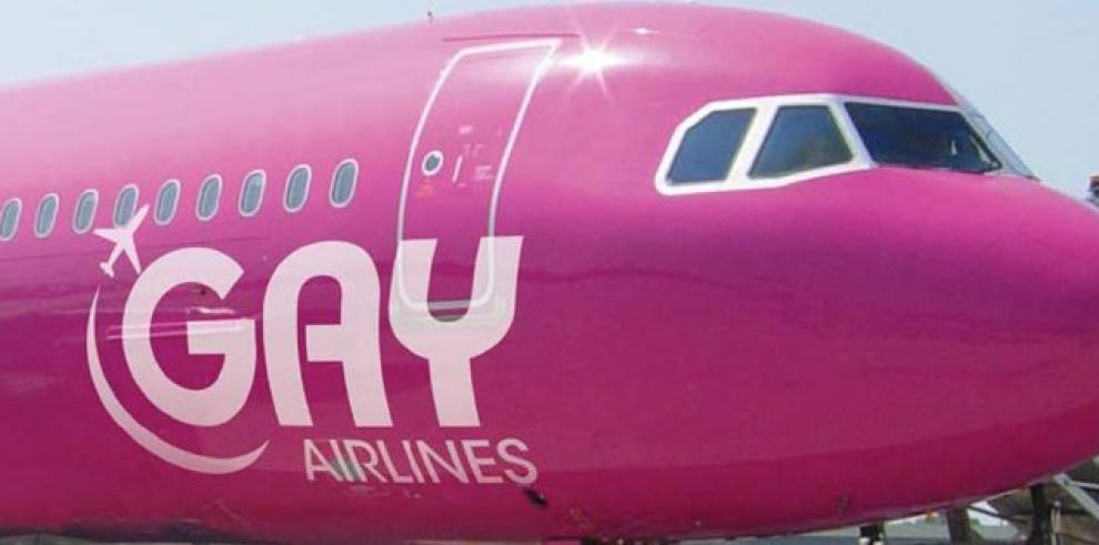 El primer avión rosa de Gay Airlines aterrizará el 3 de octubre