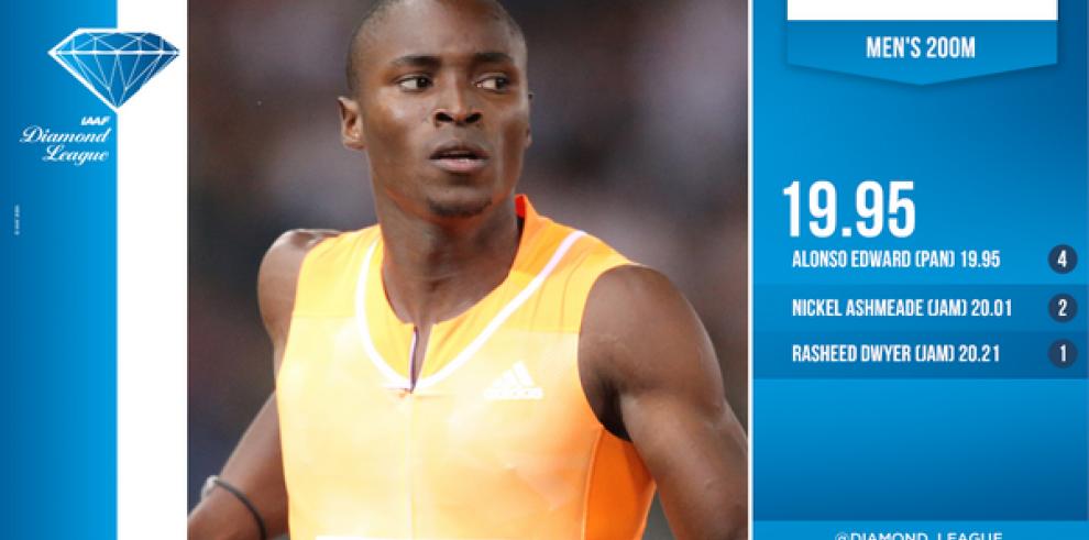 Panameño Edward gana trofeo de los 200 metros de Liga Diamante
