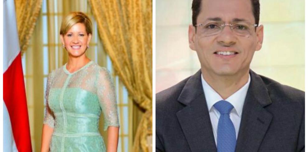 Primera Dama Lorena Castillo y periodista Álvaro Alvarado activan el twitter