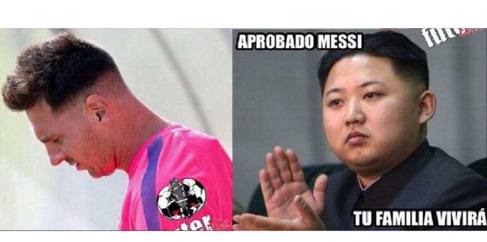 Memes por el nuevo look de Lionel Messi