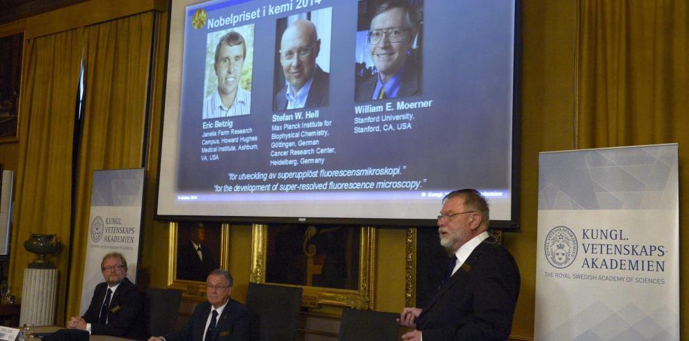 Fundadores de la nanoscopia reciben Premio Nobel de Química