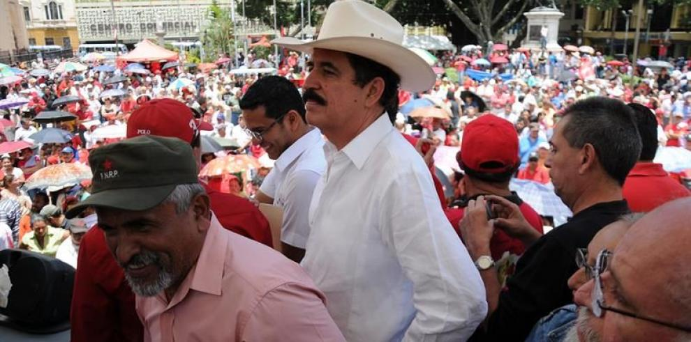 Conmemorancinco años del golpe de Estado contra Zelaya