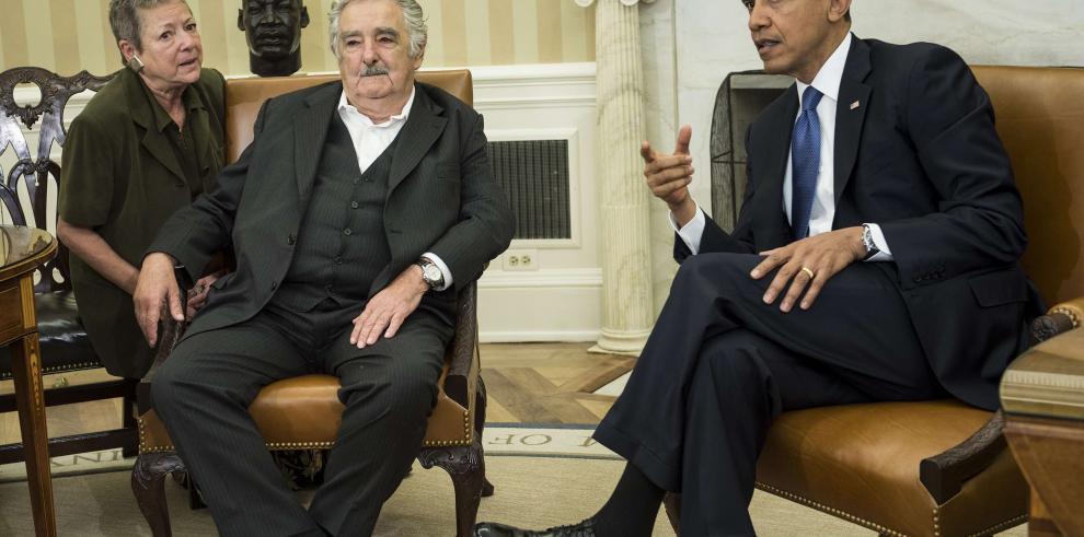 Mujica llega a la Casa Blanca para reunirse con Obama