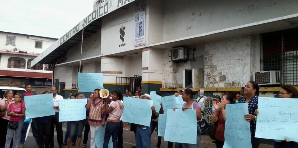 Protestan contra traslado de Centro de Salud Magaly Ruíz en La Chorrera