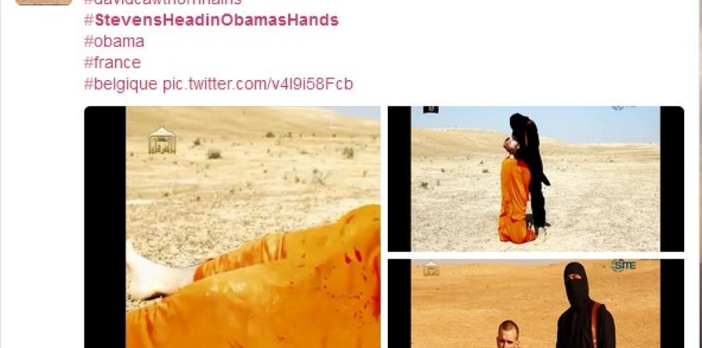 #StevensheadinObamashands, etiqueta que defiende acción yihadista