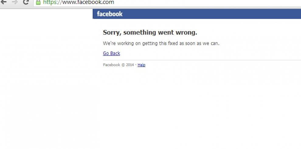 Facebook experimentó problemas esta mañana