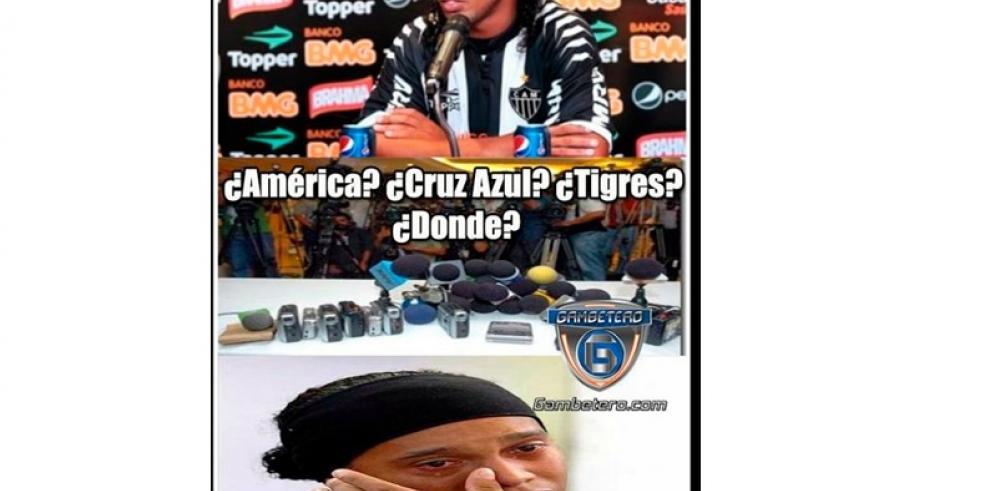 Memes de Ronaldinho luego de su fichaje al Querétaro de México