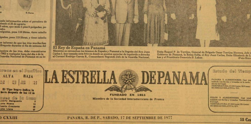 Visita real a Panamá tras la firma de los Tratados