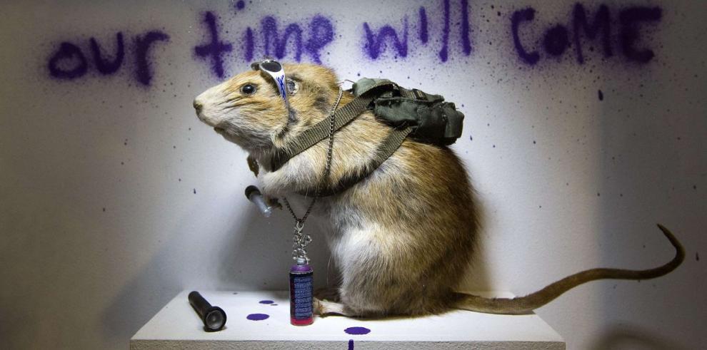 Una muestra no autorizada de Banksy