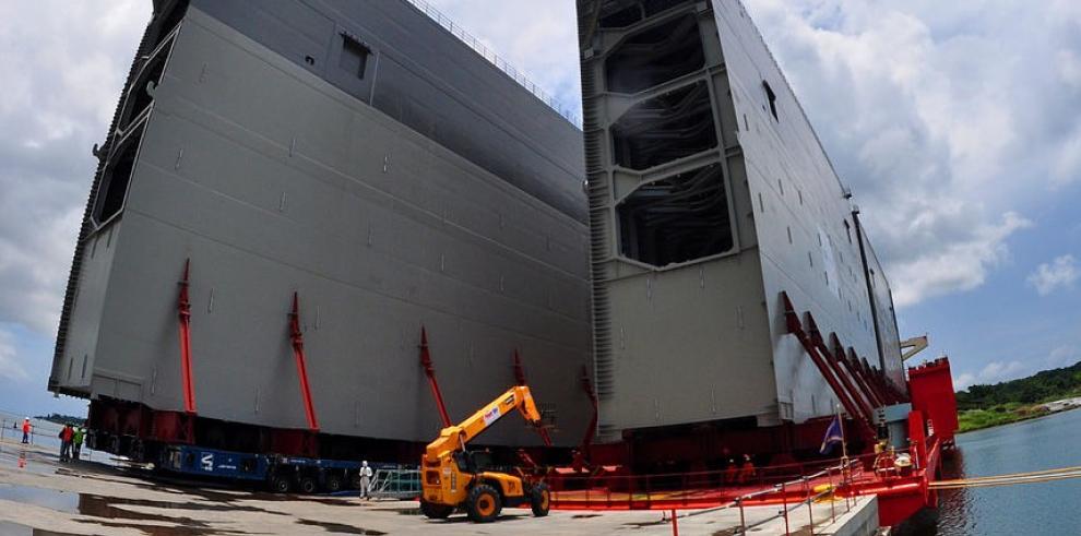 Hoy llegan las compuertas para el tercer esclusas del Canal de Panamá