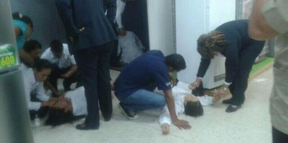 Elevador de Raenco en Transistmica se desploma y deja heridos