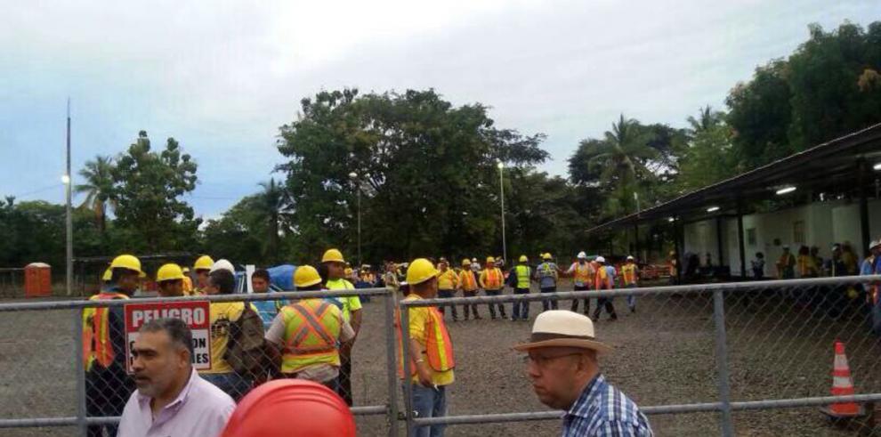 Huelga en carretera David - Santiago