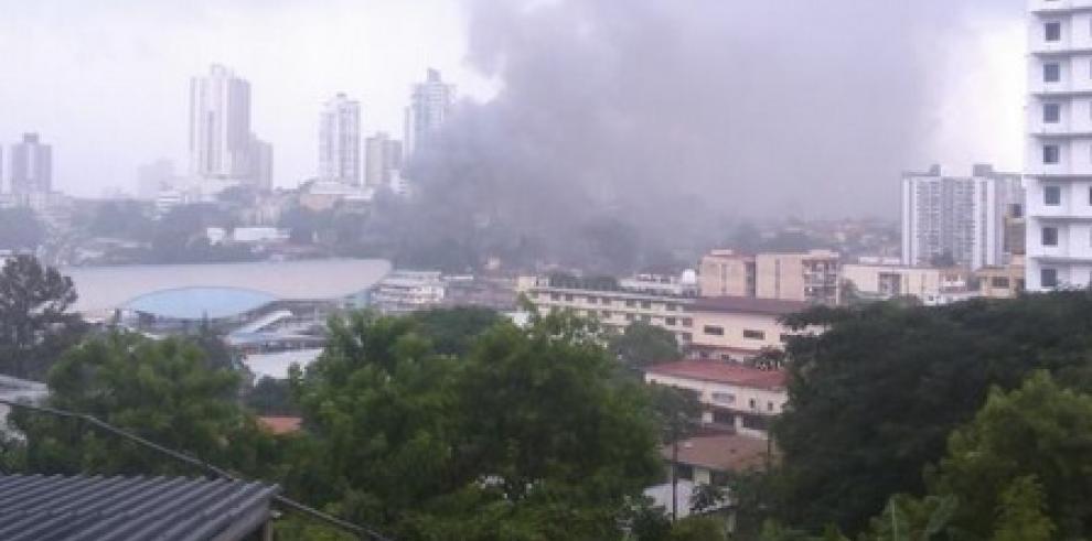 Reports of a fire in Pueblo Nuevo, Panama City