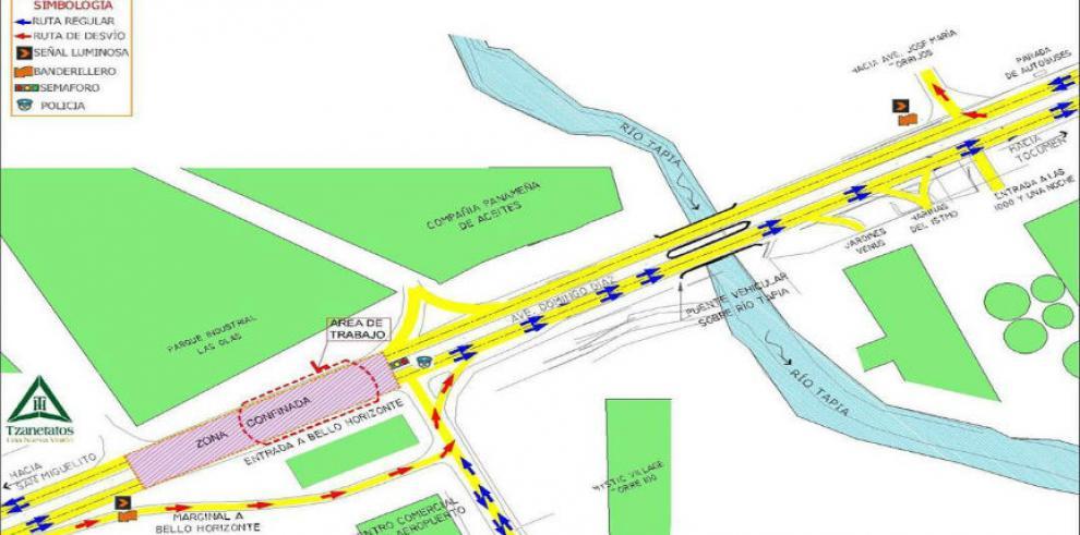 Este viernes realizarán montaje de vigas del puente de Bello Horizonte