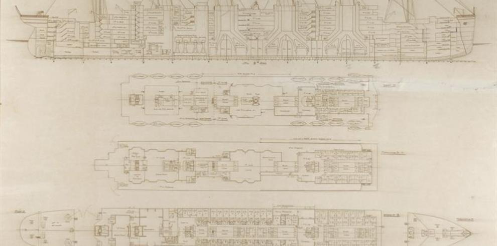 Planos del Titanic salen a subasta