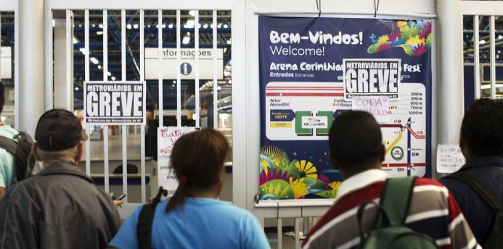 Brasil endurece medidas contra huelguistas para asegurar metro en Mundial