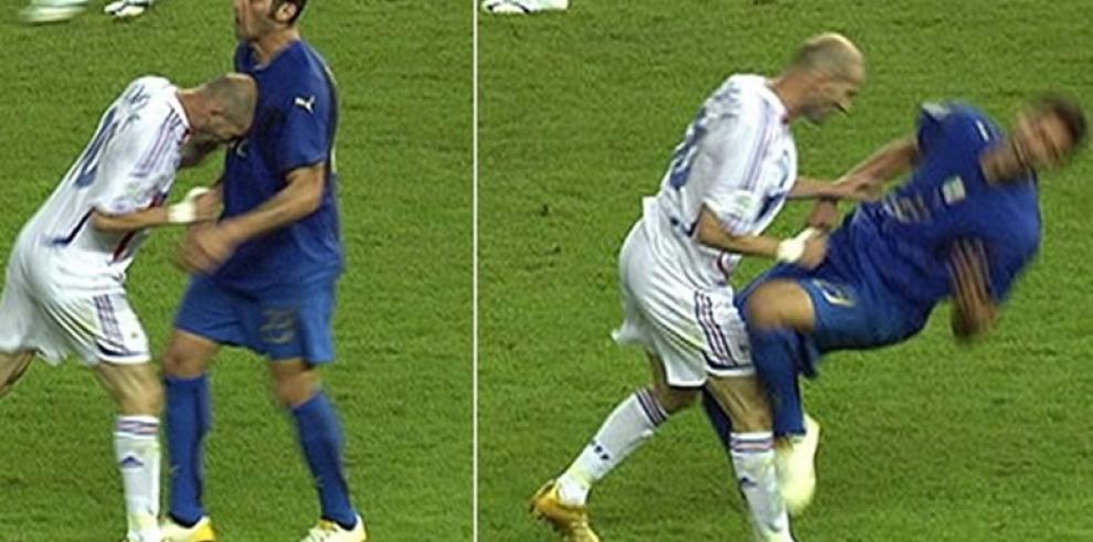 Materazzi reta a Zidane en la campaña del cubo de agua