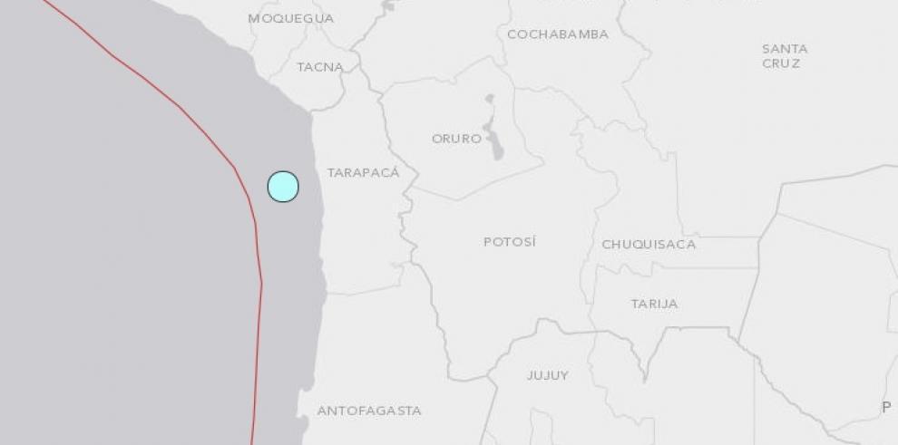 Fuerte temblor de magnitud 7,8 afecta el norte chileno