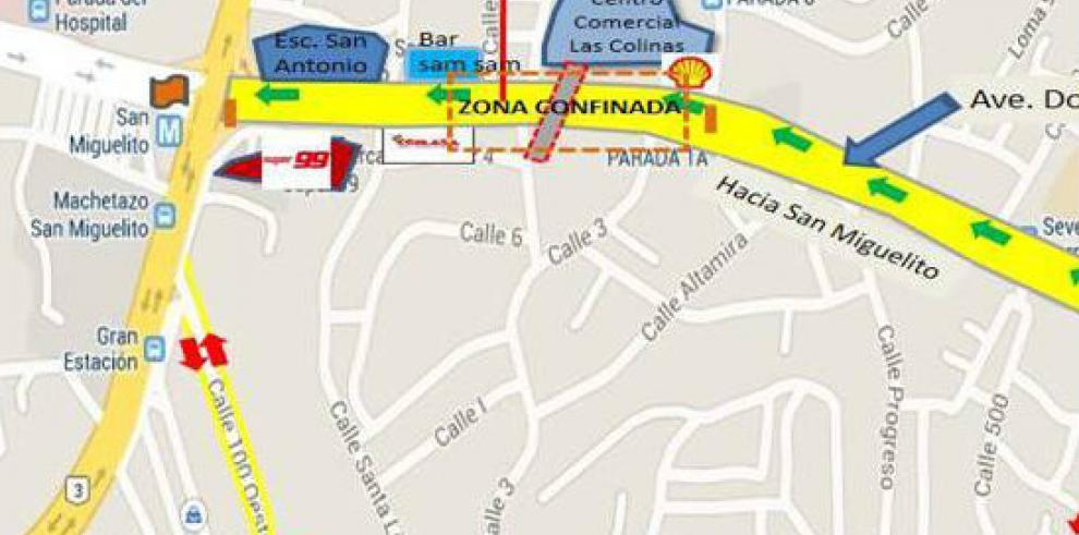 MOP anuncia desvíos provisionales en la Ave. Domingo Díaz