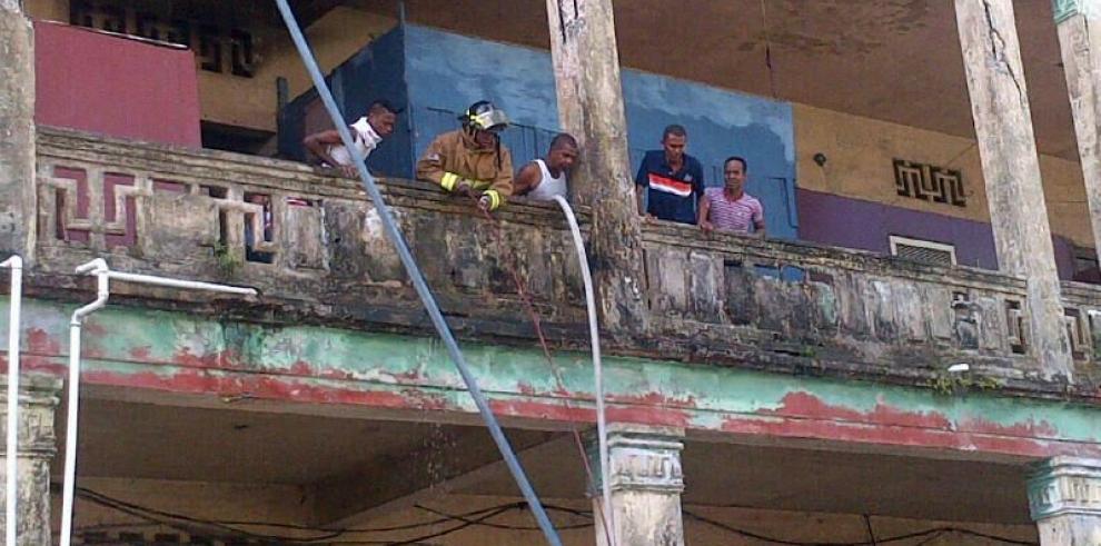 Conato de incendio en casa Wilcox en Colón