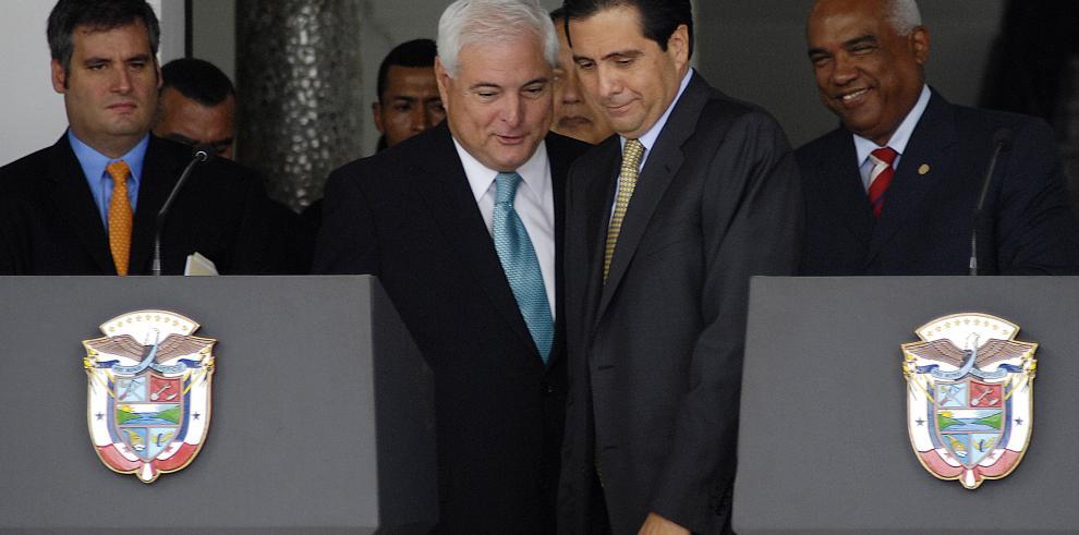 La foto que el presidente Martinelli le niega a la historia