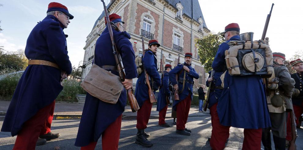 Mandatarios de varios países recuerdan la Gran Guerra en el Día del Armisticio