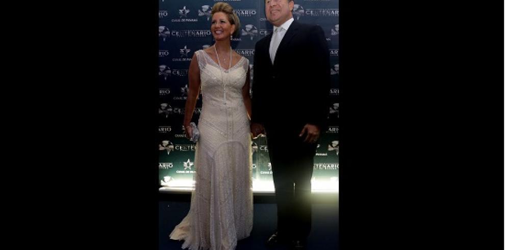 Personalidades en la gala del Canal de Panamá