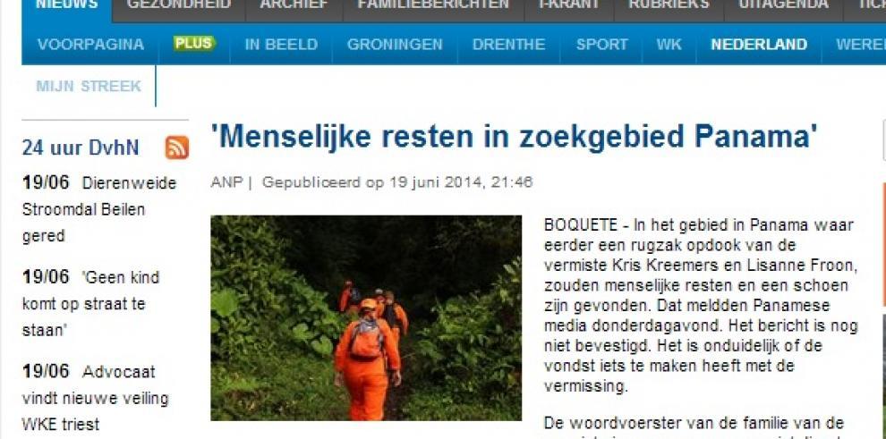 Encuentran nueva evidencia de las holandesas desaparecidas