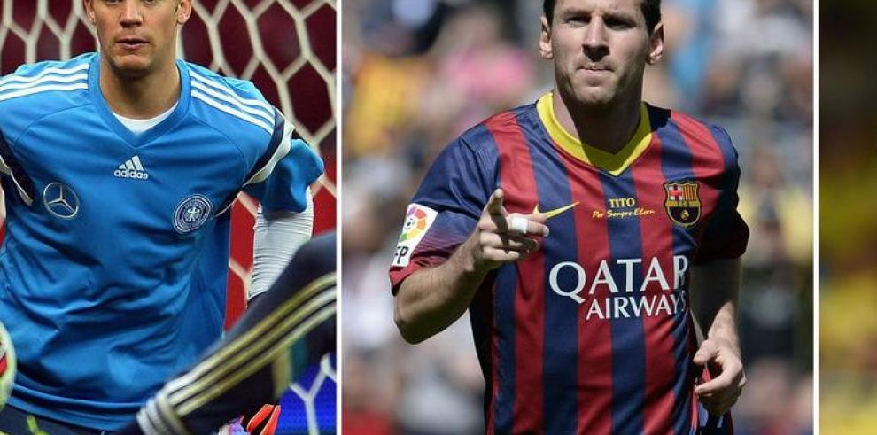 Ronaldo, Messi y Neuer, los finalistas