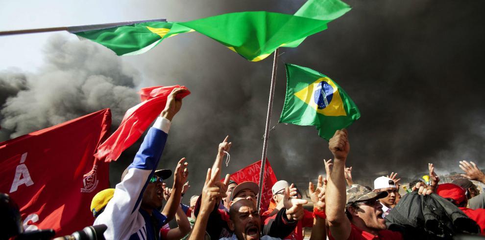 Varias protestas contra el Mundial colapsan en Sao Paulo